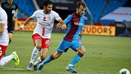 Trabzonspor 1 puanı uzatmalarda kurtardı
