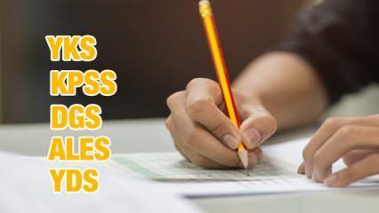 2021 YKS, KPSS DGS, ALES ve YDS sınavları ne zaman yapılacak? ÖSYM sınav ve başvuru tarihleri!