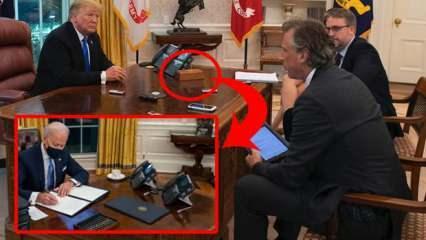 Biden Oval Ofis'ten Trump'ın 'diyet kola' butonunu da kaldırttı