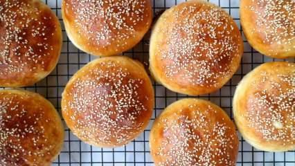 Evde kolay hamburger ekmeği nasıl yapılır? Hamburger ekmeği tarifi