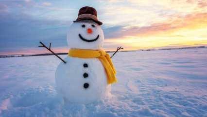 Kardan adam nasıl yapılır? Kardan adam yaparken dikkat edilmesi gerekenler