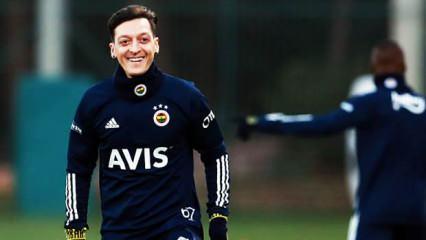 Mesut Özil antrenmanda! Fenerbahçe paylaştı
