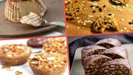 Pişmeden yapılan tatlı tarifleri! Kısa sürede hazırlanan fırınsız ve ocaksız yapılan tatlılar