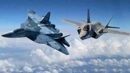 Havada devlerin savaşı! Su-57 ile F-35'ten it dalaşı! İşte kazanan