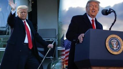 Trump Beyaz Saray'dan son kez ayrıldı! 'Geri döneceğim' deyip imalı sözlerle veda etti