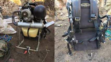 150 kilo bomba taşıyan paramotorlu terörist havada vuruldu!