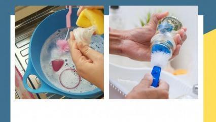 Biberon temizliği en iyi nasıl yapılır? Sirke ve karbonatla en hijyenik yıkama yöntemi