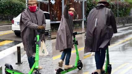 Elektrikli scooter kullanan Sinan Albayrak'tan güldüren uyarı!