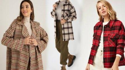 Oduncu gömlek tarzında kareli ceketler!
