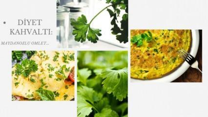 Diyet kahvaltılık tarifi: Peynirli ve maydanozlu diyet omlet tarifi