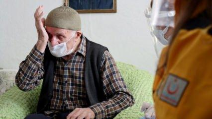 """Sağlık Bakanı Koca """"Selim dede""""nin duygu dolu görüntülerini paylaştı"""