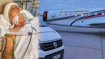 Sağlıklı şekilde Almanya'ya gitti, yanlış tedavi sonucu ambulans uçakla Türkiye'ye döndü!