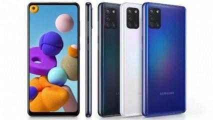 Samsung Galaxy A21s bütçe dostu fiyatı ve şık tasarımıyla dikkatleri çekti