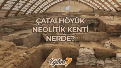 Tarihin ilk modern şehri Çatalhöyük nerede? Neolitik kent Çatalhöyük'ün önemi...