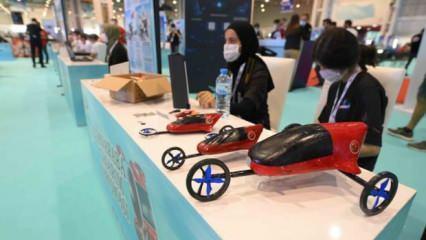 Teknofest'te milli uçan araba yarışması