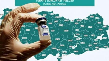 Türkiye'nin aşı haritasında son dakika! İşte il il son durum...