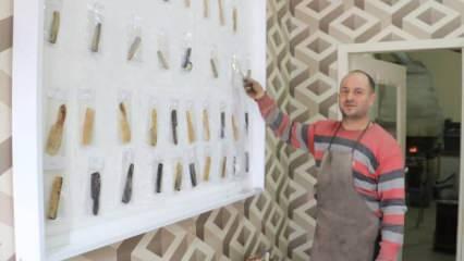 Türkiye'de kemik tarak üretimi yapan iki ustadan biri; hiçbir ürün diğerine benzemiyor