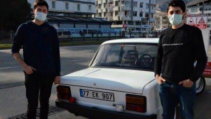 Makine mühendisliği öğrencisi 2 arkadaş 30 yıllık hurda aracı 15 bin liraya yeniledi!