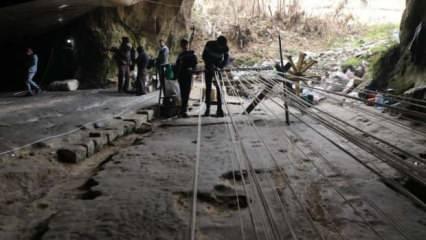 200 yıllık mağarada asırlık kendir mesleğini sürdürüyor!