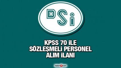 KPSS 70 puan ile DSİ sözleşmeli personel alım ilanı! Başvuru için kaç gün kaldı?