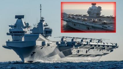 F-35'lerin yüzen karargahı Queen Elizabeth, Doğu Akdeniz'e inecek