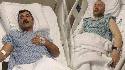 Samsun'da yaşayan bir adam yıllardır böbrek hastası olan çocukluk arkadaşına böbreğini verdi