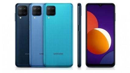 Samsung giriş seviyesi için yüksek özellikler sunan Galaxy M12'yi tanıttı
