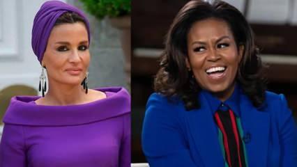 Katar Emiri'nin annesi ile Michelle Obama arasındaki yazışmaya sızıp içeriğini ifşa ettiler