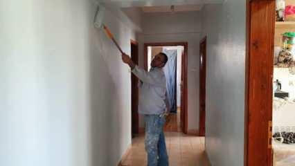 Fedakar baba kızını yaşatabilmek için tek koluyla inşaatlarda çalışıyor!