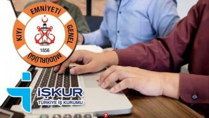İŞKUR'dan Kıyı Emniyeti Genel Müdürlüğü memur alım ilanı! Başvuru için son gün...