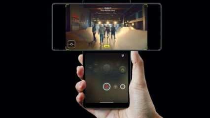 Kendiliğinden gimbal özelliği olan akıllı telefon: LG Wing
