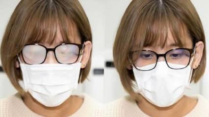 Maske takarken gözlüklerin buharlanması nasıl önlenir?