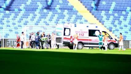 1. Lig maçında şok! Fenalaşarak hastaneye kaldırıldı