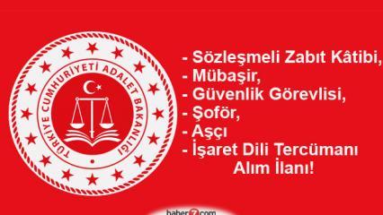 Adalet Bakanlığı lise mezunu personel alımı devam ediyor!
