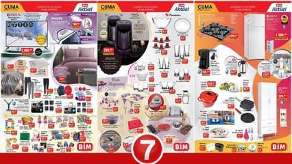5 Mart BİM Aktüel Kataloğu! Züccaciye, elektronik, tekstil, buzdolabı ve elektrikli ürünlerde..