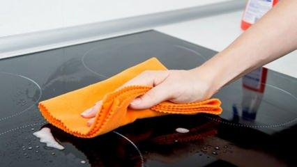 Cam ocak nasıl temizlenir? Cam ankastre ocak su lekesi nasıl çıkar