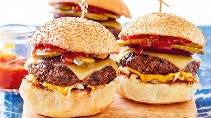 Cheeseburger nedir ve Cheeseburger nasıl yapılır? Evde en kolay Cheeseburger tarifi