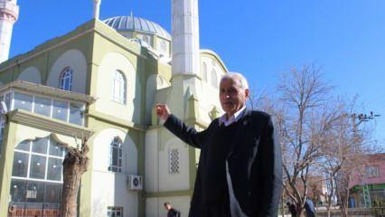 Şehit babası oğlunun hatırası için tüm malını satarak 2 milyon liraya bin kişilik cami yaptırdı