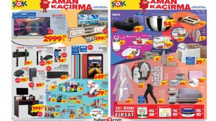 26 Şubat ŞOK aktüel kataloğu! TV ünitesi, masa, züccaciye, televizyon, tekstil ürünlerinde...