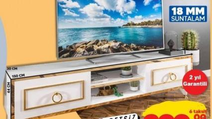 Şok'ta satılan suntalam televizyon ünitesi nasıl, alınır mı? Şok TV ünitesi özellikleri