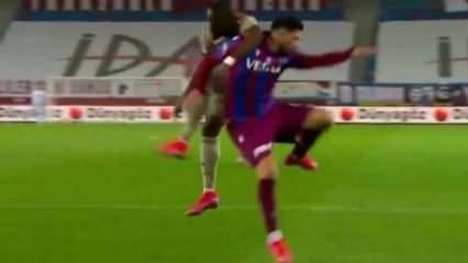 Trabzonspor - Fenerbahçe maçında penaltı tartışması!