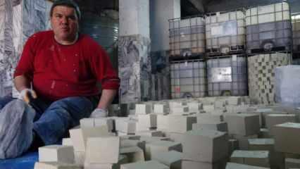 Aydın'da bir adam 150 yıllık aile mesleğini eski usul zeytinyağı üreterek sürdürüyor!