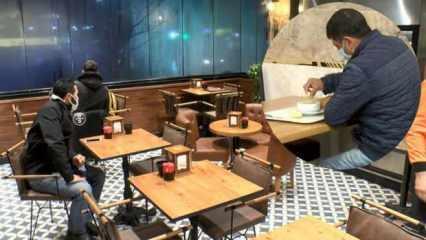 Aylar sonra kafe ve restoranlar ilk müşterilerini aldı