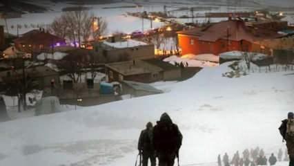 Bitlis'te, helikopterin kaza kırıma uğradığı bölgede inceleme