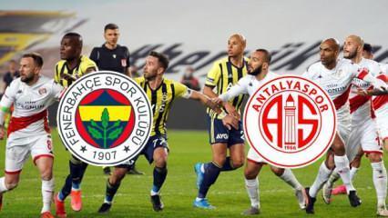Fenerbahçe Antalyaspor maçı BeIN Sports geniş özeti ve golleri! Fenerbahçe 1 puana razı oldu!