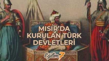 Mısır'da kurulan Türk Devletleri şifre (TEMA) Mısır'da kurulan Türk İslam Devletleri haritası