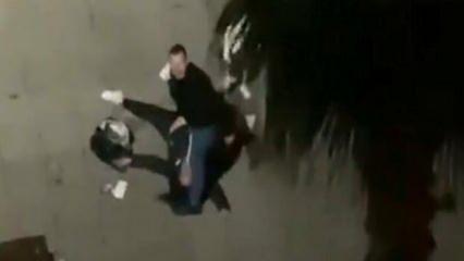 Samsun'da sokak ortasında bir kadına şiddet uygulayan zanlı gözaltına alındı