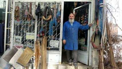 Sivas'ta unutulmaya yüz tutmuş saraçlık mesleğini 50 yıldır sürdürüyor!