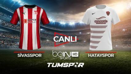 Sivasspor Hatayspor maçı canlı izle! | BeIN Sports Sivas Hatay maçı şifresiz canlı skor takip