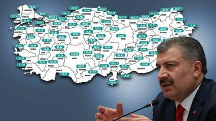 Son dakika… Sağlık Bakanı Koca il il haftalık vaka sayılarını açıkladı